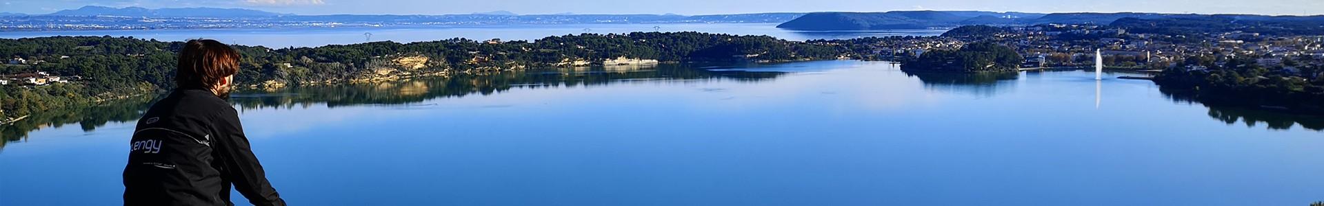 Istres vue sur les deux étangs de Berre et de l'Olivier