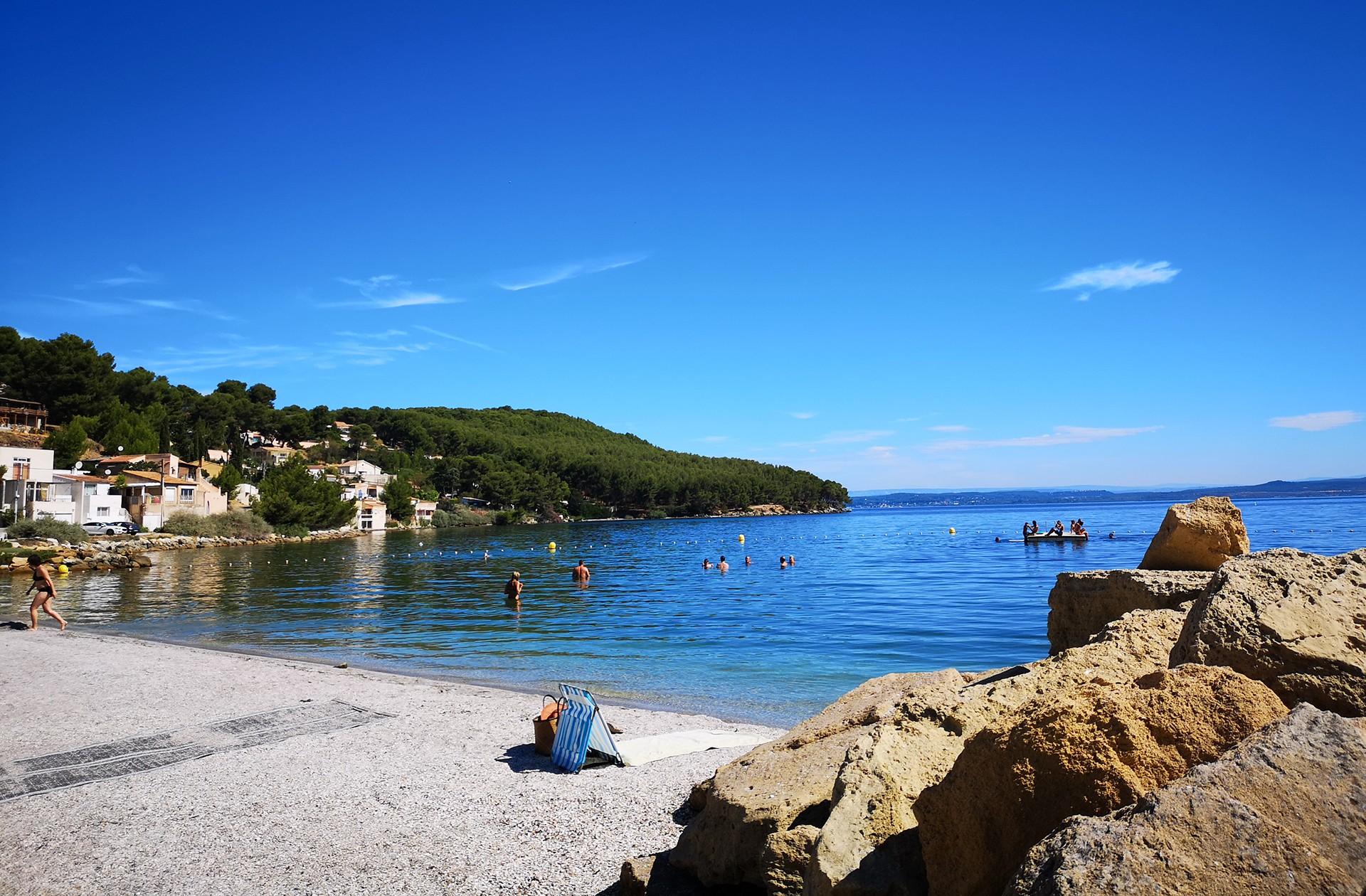 Les plages de l'étang de Berre d'Istres