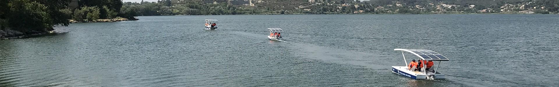 Naviguez sur l'étang de l'Olivier