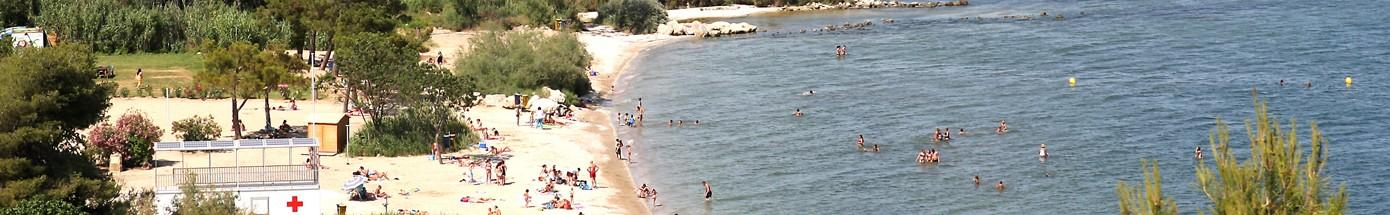 Plage Romaniquette à Istres