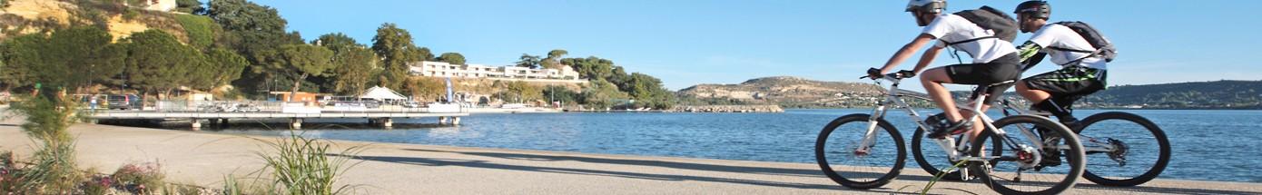 VTT au bord de l'étang de Berre et d'Entressen
