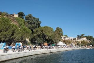 Circuit en vélo sur le pourtour de l'étang de l'Olivier