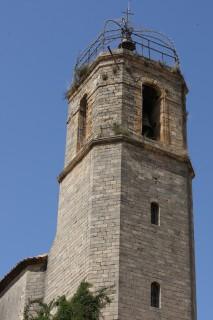 Le clocher de l 'église Notre Dame de Beauvoir