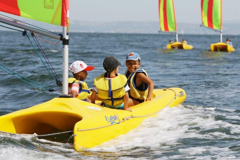 Activités nautiques sur l'étang de Berre Istres