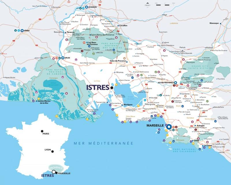 Carte de situation Istres