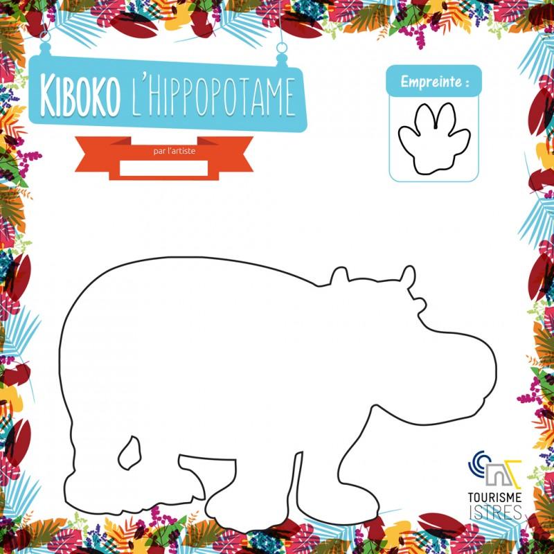 Coloriage Kiboko l'Hippopotame