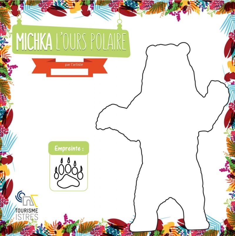 Coloriage Michka l'Ours