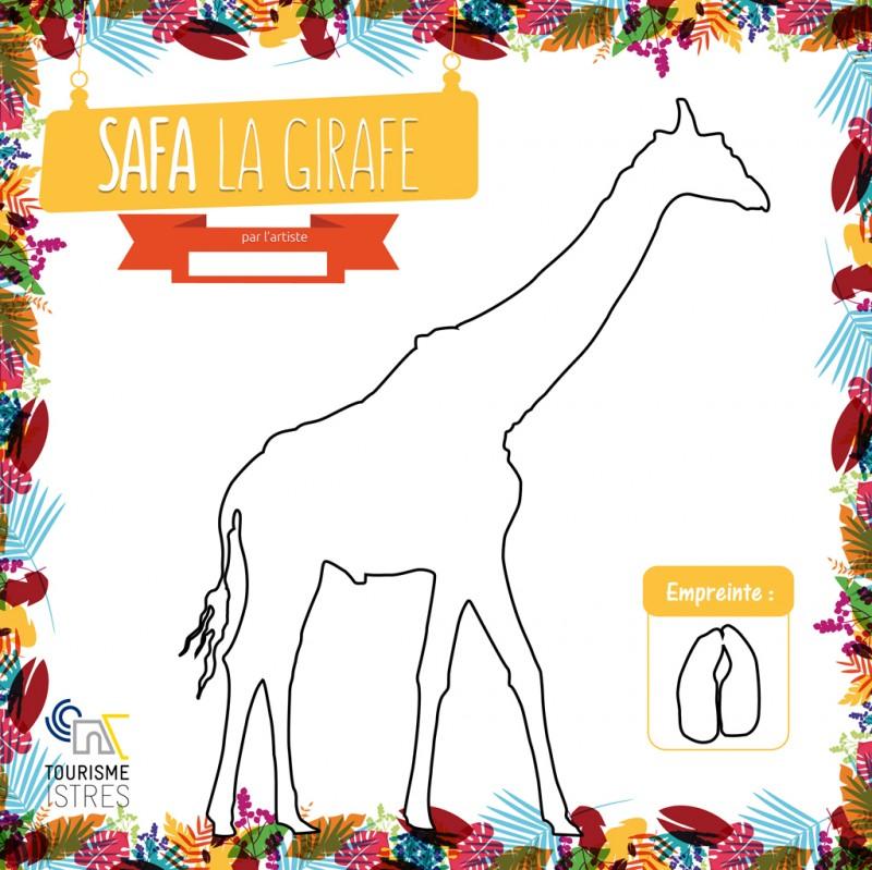 Coloriage Safa la Girafe
