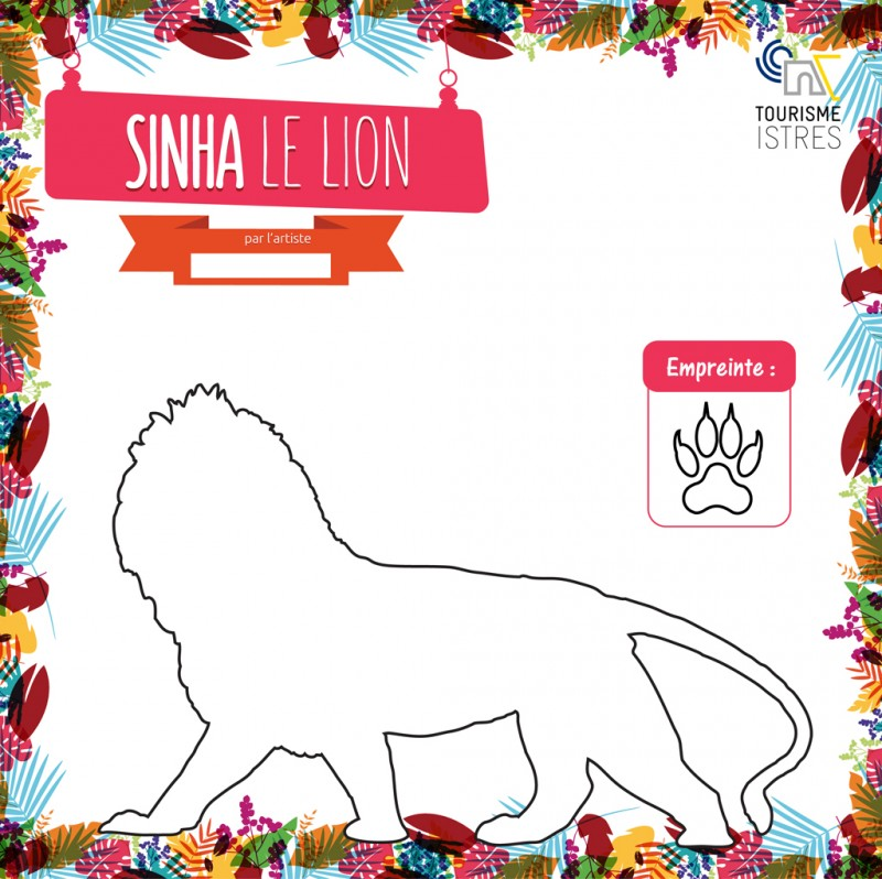 Coloriage Sinha le Lion