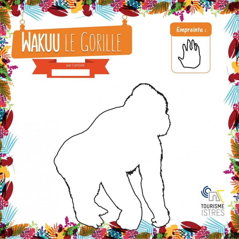 Coloriage Wakuu le Gorille