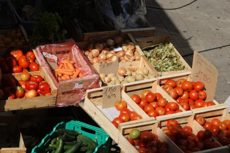 Fruits et légumes du marché d'Istres