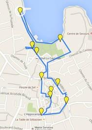 Un parcours sportif intércatif dans le centre-ville d'Istres