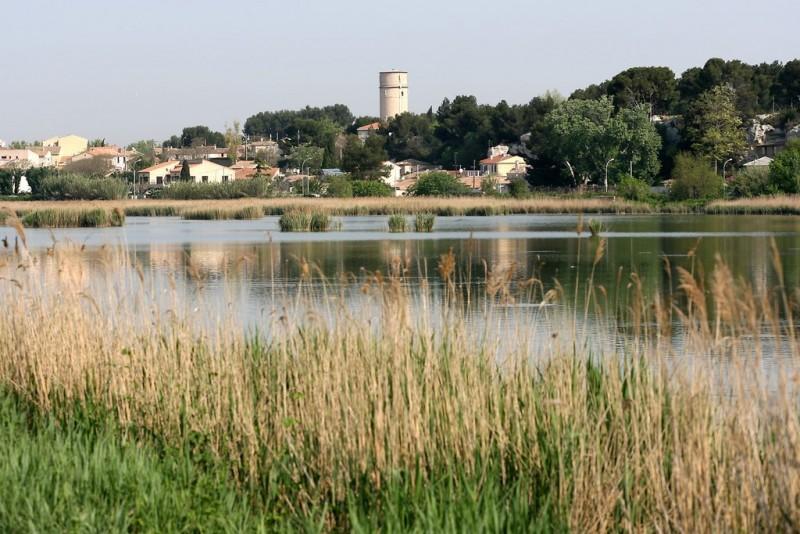 Istres ville d'eau étang de rassuen