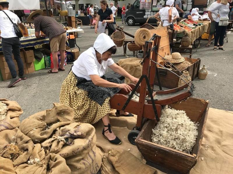 La fête du foin se déroule chaque année à Entressen en juin