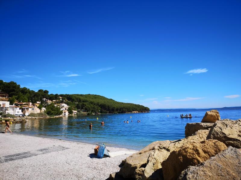 La plage du Ranquet à Istres
