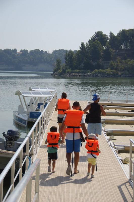 Le Port de l'Olivier - Istres - étang de l'olivier - Jet d'eau