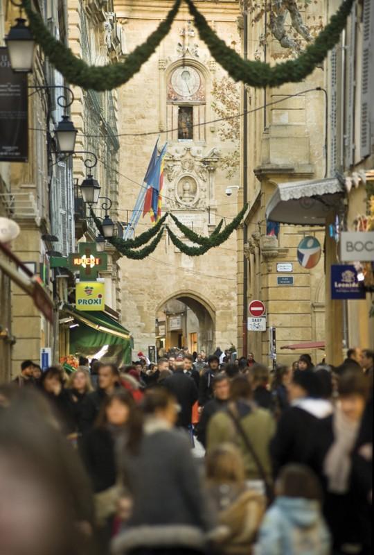 Les rues commerçantes d'Aix en Provence