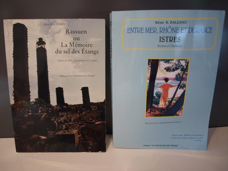 Livres : Rassuen ou la Mémoire du sel des étangs et Istres en Mer, Rhône et Durance