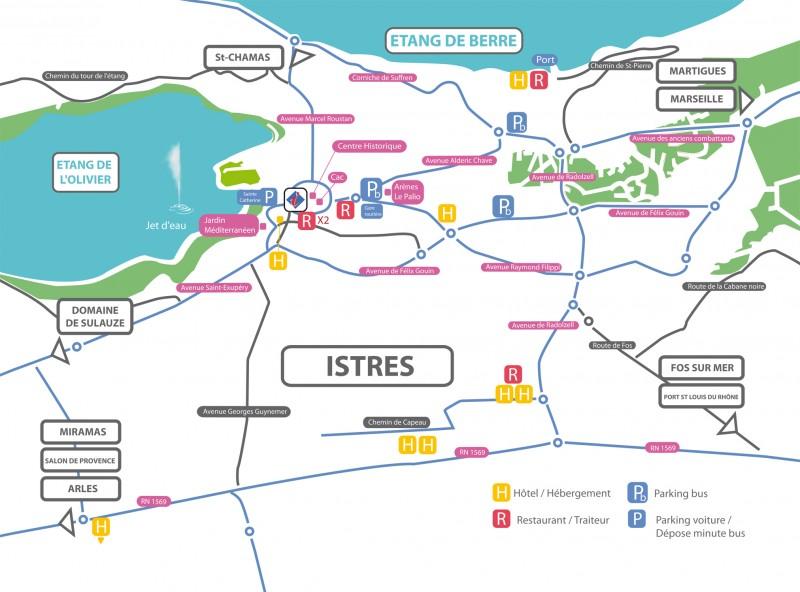 Plan Istres & Parkings Bus