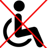 Not accessible in a wheelchair