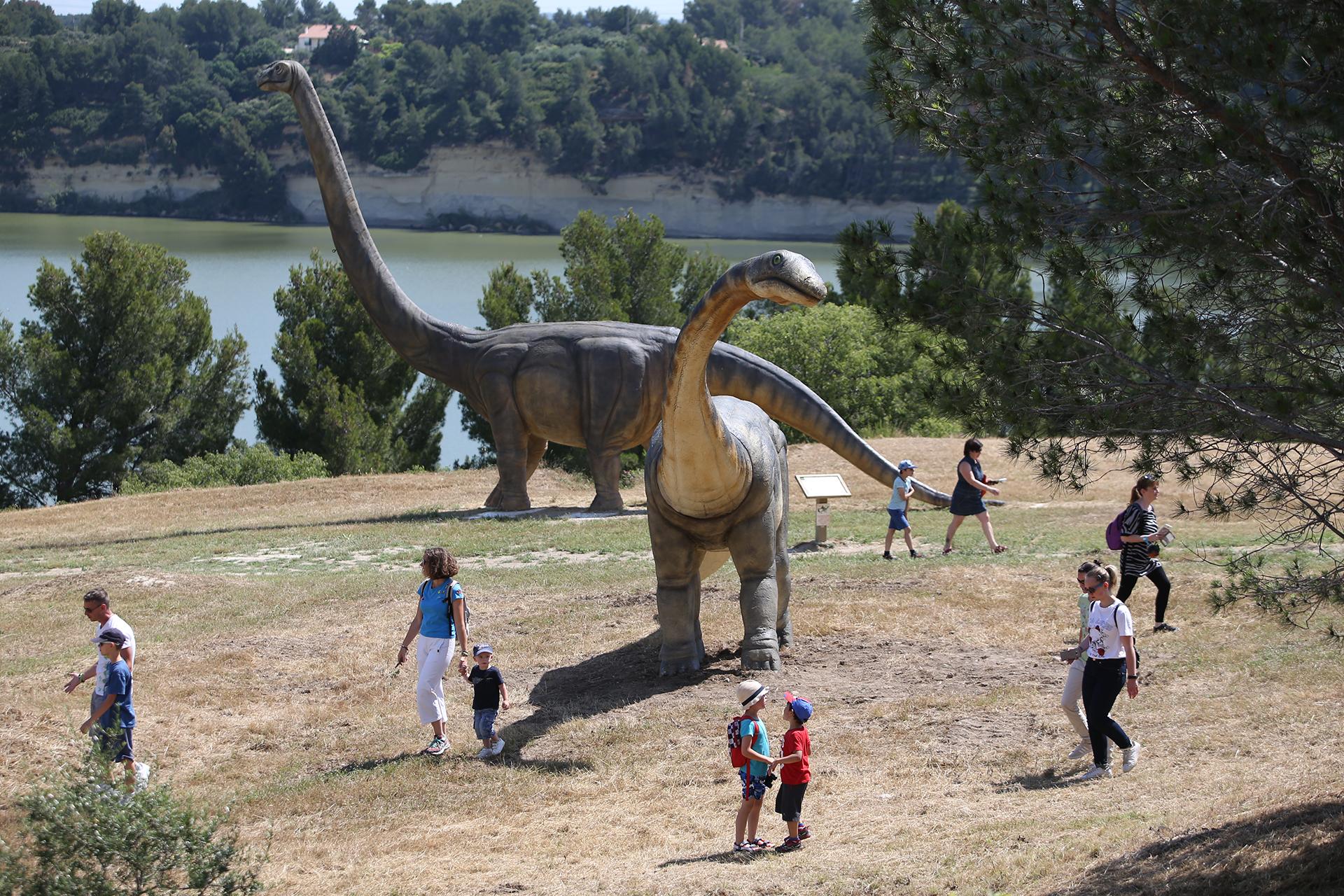 Dinosaur'Istres, parc gratuit à Istres sur les dinosaures - © Service Communication ville d'Istres