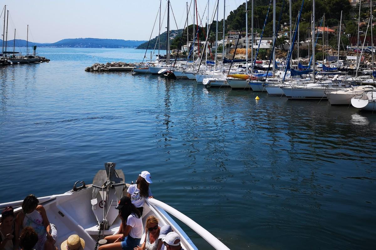 Balade nautique avec le Cisampo depuis le port des Heures Claires
