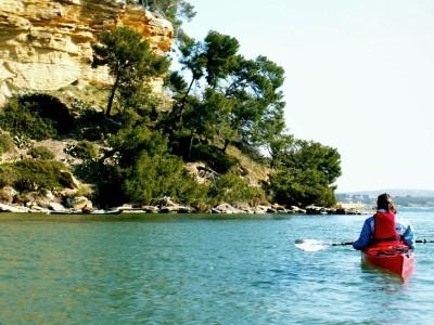 Balade en kayak sur l'étang de Berre